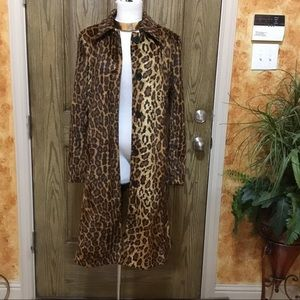 NewPort Animal Print Faux Trench Coat
